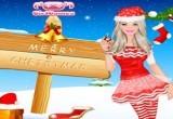 لعبة تلبيس باربى فى عيد الميلاد