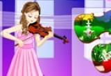 لعبة تلبيس عازفة الجيتار