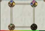 لعبة دوائر الكور الملونة